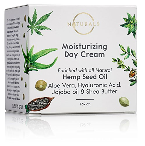 O Naturals Active Moisturizing Day Face Cream – 1.69 oz. Organic Enriched with 100% Natural Hemp Seed Oil Aloe Vera Hyaluronic Acid Jojoba Oil & Shea Butter. Anti-Aging, Reduces Wrinkles & Moisturizes