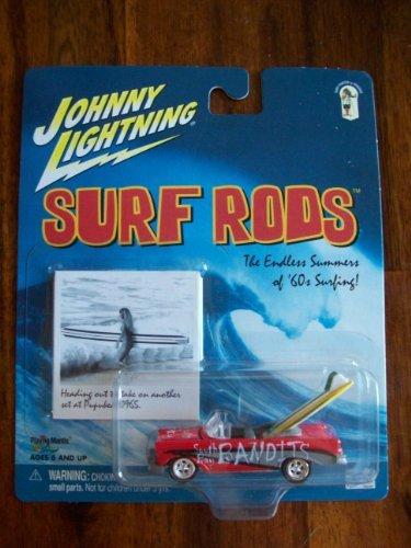 Johnny Lightning Surf Rods - South Bay Bandits -1956 Chevrolet Bel Air Convertible - 1/64th