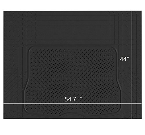 Cargo Trunk Liner - West Coast Auto Heavy Duty Rubber Trunk Cargo Liner Floor Mat, Trimable to Fit for Car, SUV, Van, Trucks (Large, Black)