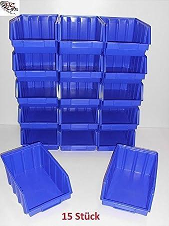 15 Stapelboxen Gr 4 Stapelkasten Stapelkisten Sichtlagerkasten