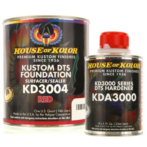 House of Kolor QUART KIT RED Color KD3000 DTS Surfacer / Sealer w/ Hardener (Kolor Of Primer House)