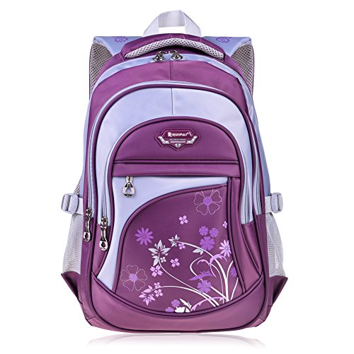 Vbiger Girl's & Boy's Backpack for Middle School Cute Bookbag Outdoor Daypack (Purple 1) by VBIGER