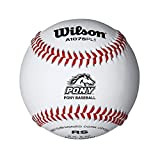 Wilson Pony League Raised Seam Baseball (12 Pack), White