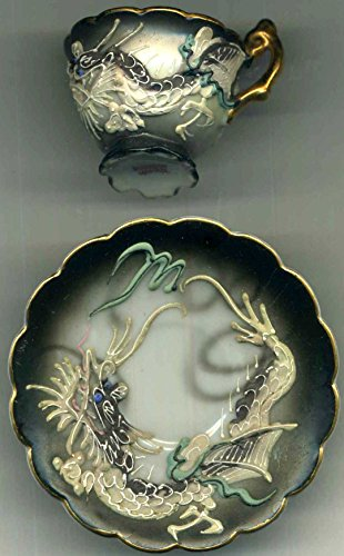 Used, Demitasse Dragon Cup and Saucer~Made in Japan~Cup Diameter for sale  Delivered anywhere in USA