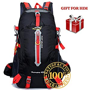 Hiking Backpack for Men - 40 Liter Lightweight Waterproof Weekend Day Pack, Small Daypack Bag for Teen Boys, for Camping, Travel, Cycling, Fishing, Overnight Trip - Gifts Father Day Birthday for Him