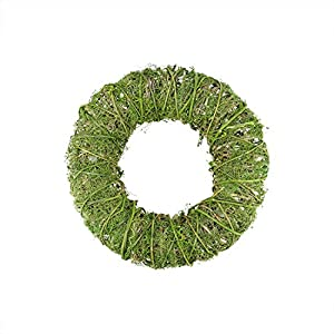 "Northlight 12"" Green Moss and Vine Artificial Spring Wreath 4"