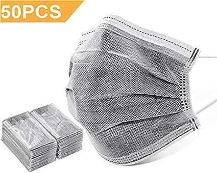 à bas prix emballage fort vraie qualité Lot de 50 masques hygiéniques jetables en microbes de ...