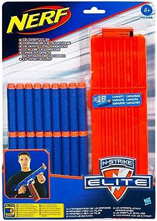 Nerf - Pack de 18 Dardos Clip Modelo Elite (Hasbro A0356148): Amazon.es: Juguetes y juegos
