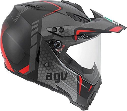 AGV AX-8 Dual Sport Evo Helmet (Black/Silver/Red, Medium) by AGV (Image #4)