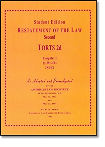 RESTATEMENT SECOND OF TORTS DOWNLOAD