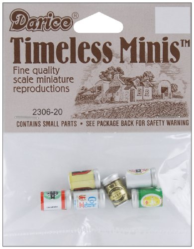 Darice Timeless Miniatures  Assorted Beer Cans, Multi-color