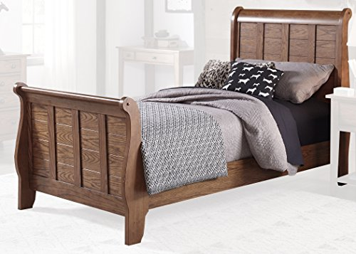 - Liberty Furniture 175-YBR-TSL Grandpa's Cabin Twin Sleigh Bed, 42