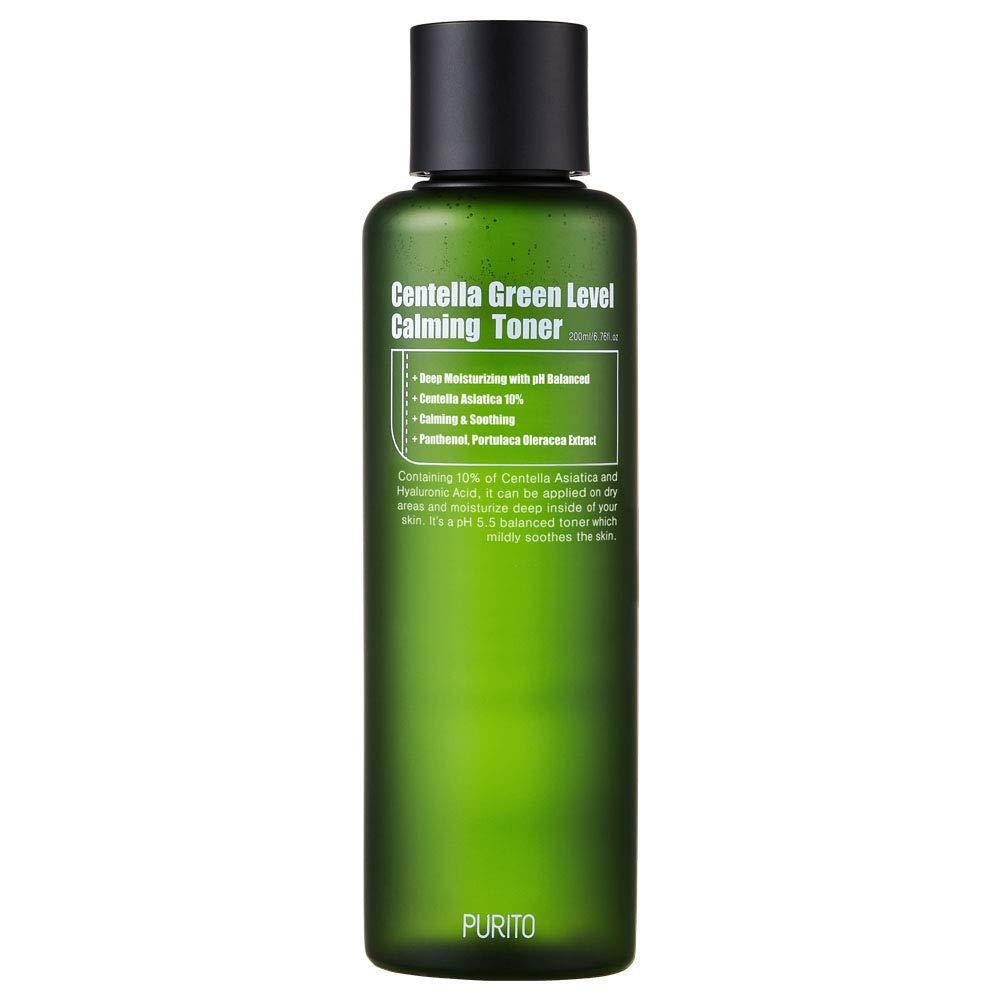 PURITO Centella Green Level Calming Toner 200ml/6.76fl.oz, alchhole-free toner, Natural Daily Facial Toner, Acne,Face toner for Sensitive Skin,