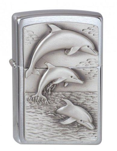 (Zippo 1900456 No.200 Dolphins Emblem Cigarette Lighter)