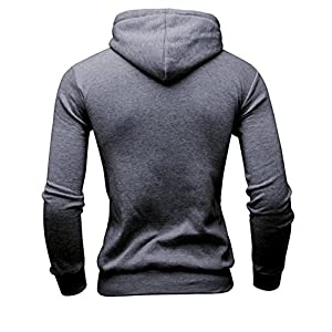 Mooncolour Mens Novelty Color Block Hoodies Cozy Sport Autumn Outwear - The Who, Dark Gray, US Medium