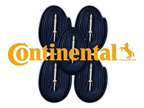 - Continental Race 28 700c x 18-25 Bike Tubes (5 Pack) - 60mm Presta Valve