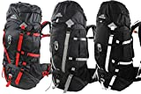 65l Backpack - Multi-day Pack for Hiking, Camping, Travel & Backpacking with Rain Cover - Large Rucksack for Men & Women with Hydration [Red, Gray, White]