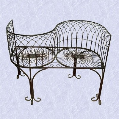 Cheap Lovers Metal Garden Bench