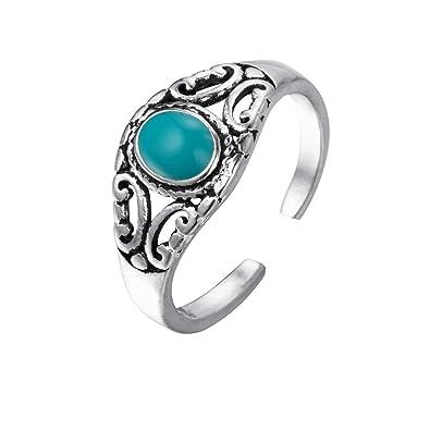 11429a5582a5 Anillo de plata 925 con piedra turquesa