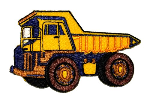 (Haul Dump Truck DIY Applique Embroidered Sew Iron on Patch HDT-01)
