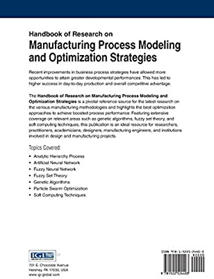 Amazon com: Handbook of Research on Manufacturing Process
