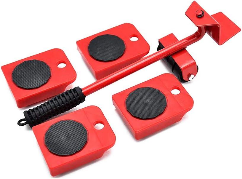 Levantador de muebles con 4 deslizadores móviles, juego de rodillos para muebles, herramientas de movimiento pesadas, máximo para 150 kg, almohadillas giratorias de 360 grados
