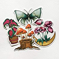 Nature Art Stickers for laptops, planners, and water bottles (4-pack)