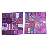 Mogul Patchwork Pillow Covers Multi Thread Embroidered Vintage Cushion Covers Home Décor Idea