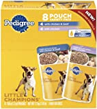 Pedigree Traditional Ground Dinner Chicken and Beef Combo Pack Food for Dogs, 5.3-Ounce Pouches (Pack of 32), My Pet Supplies