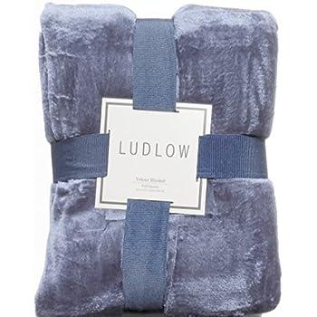Amazon Com Luxurious Solid Velvet Velour Blanket Full
