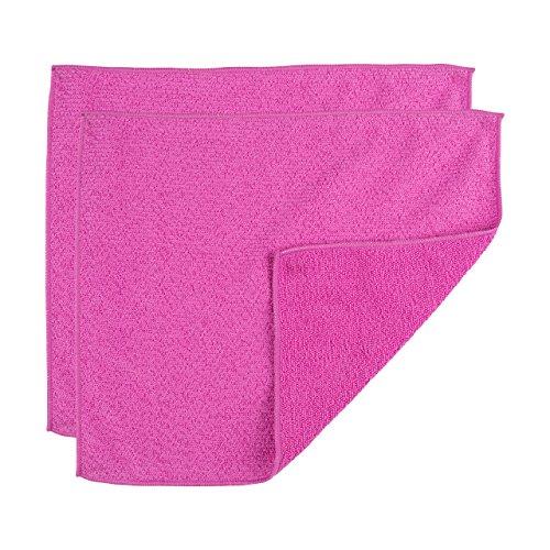 "Casabella Microfiber 12""x14"" All Purpose Cloth, Pack of 2, Magenta"