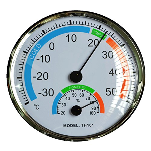 """Thermometer Hygrometer 5"""" Dial -30°c~50°c Home Decor Indoo"""