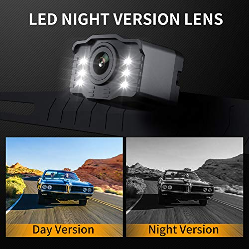 Car Backup Camera Rearview Parking Vehicle S2 Camera by Xroose High Definition 6 infrared LED lights for Night Vision IP69K Waterproof Rate License Plate Mounted Optimum 149˚ Wide View Focus for Safty by Xroose (Image #4)