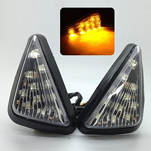 (Smoke Triangle Flush Mount LED Turn Signals Blinker for Two Optional Colors)