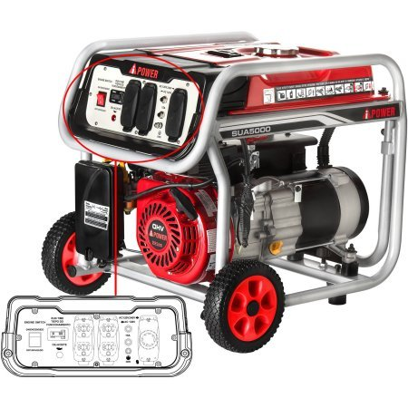 A-iPower 5000W Gasoline Powered Generator - 20 Kw Steam Generator