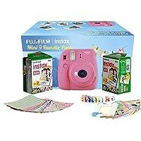 Fuji Instax Mini 9 Bundle Pack Combo Offer - ( Flamingo Pink Camera + 2 Twin Pack Films + Accessories)