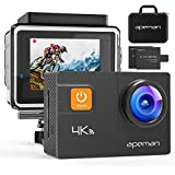 APEMAN Action Camera 4K 20MP WiFi Ultra HD Underwater Waterproof 40M Sports Camcorder with 170° EIS Sony Sensor, 2 Upgraded Batteries, Portable Carrying Bag and 24 Mounting Accessories Kits (4K 20 MP)