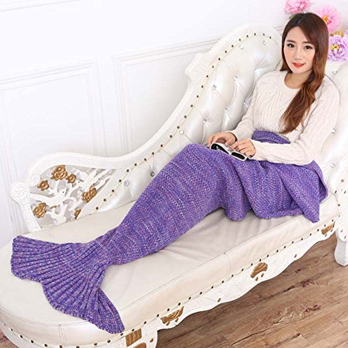 EagleUS Handmade Crocheted Mermaid Blanket