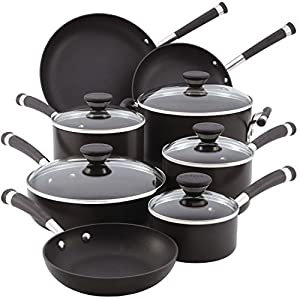 Circulon-83465-Acclaim-Hard-Anodized-Nonstick-Cookware-Pots-and-Pans-Set-13-Piece-Black