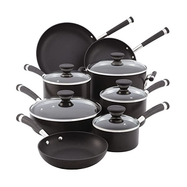 Circulon Acclaim Hard Anodized Nonstick Cookware Pots and Pans Set, 13 Piece, Black 2