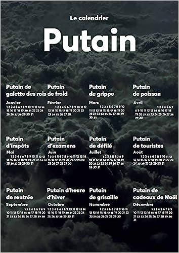 Impots Calendrier 2022 Amazon.fr   Le putain de calendrier 2022   XXX   Livres