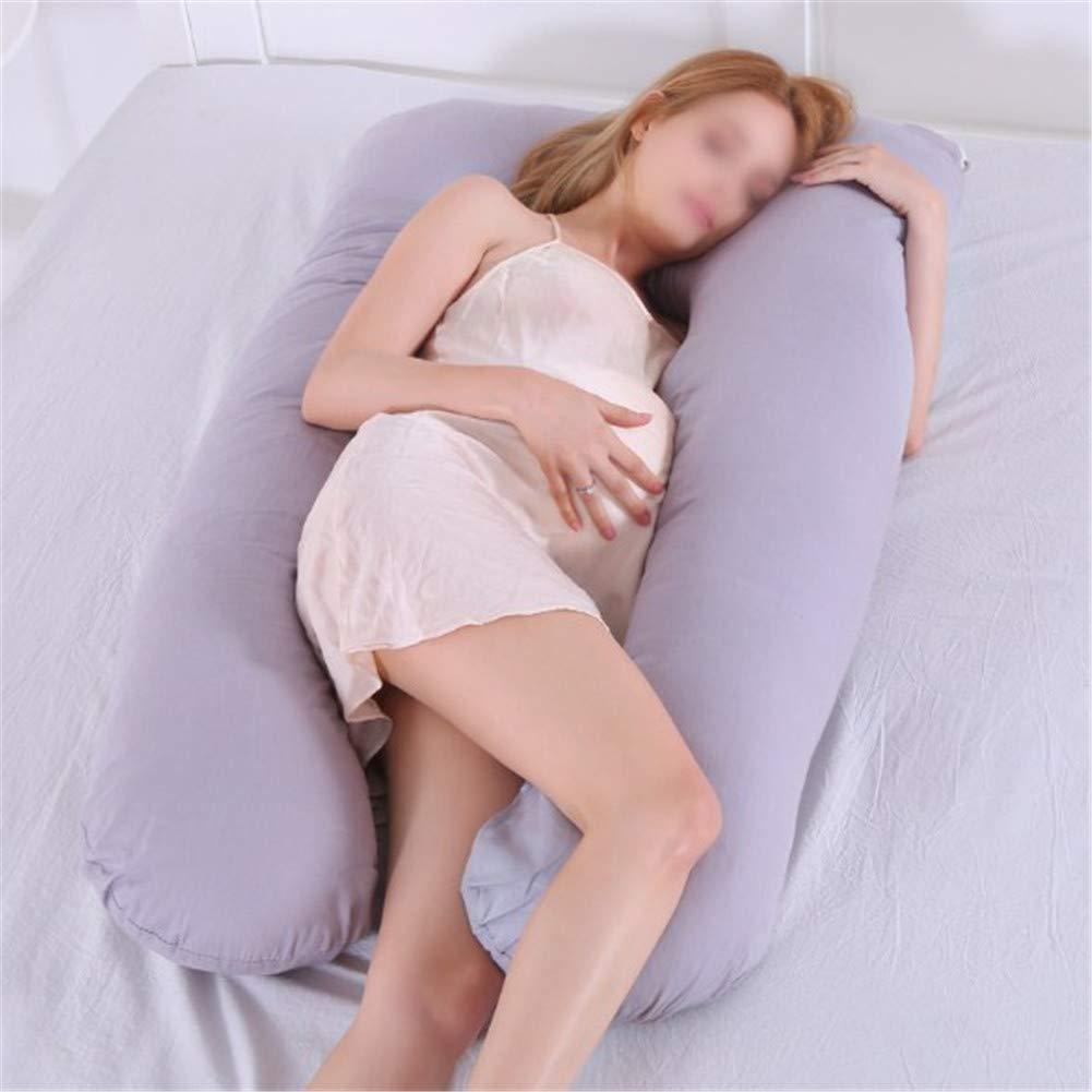 Gris Gossip-Boy Coj/ín de Almohada de Maternidad de Algod/ón en Forma de U Almohada Lumbar Almohada para Dormir Multifuncional