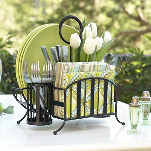 Mesa Delaware Collection Picnic Caddy, Antique Black