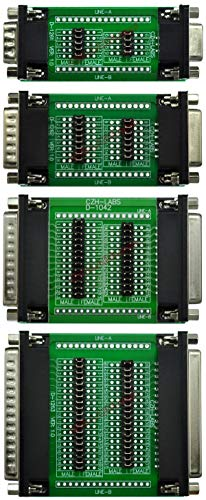 CZH-LABS Combo Package D'sub DB9 DB15 DB25 DB37 Diagnostic Test Breakout Boards.