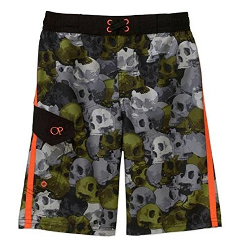 Ocean Pacific Head Caso Skull Camo Graphic Swim Trunks - X-Small