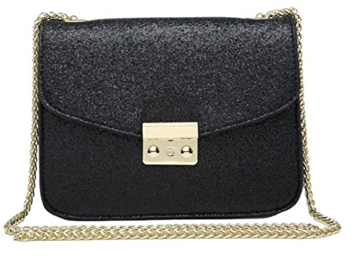 Bag Glitter HandBags Girly Black Shoulder HandBags Girly EqHtdxwqX