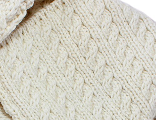 Siopa Patchwork One Button Rollkragen Cardigan Weiß cKRJ3m