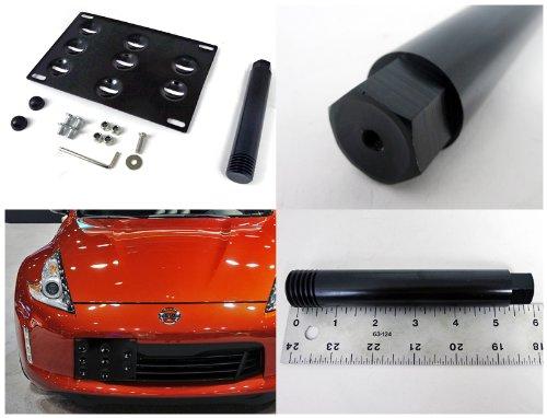 Spec-D Tuning LICTM-370Z09-GS Adjustable License Plate Hood Kit
