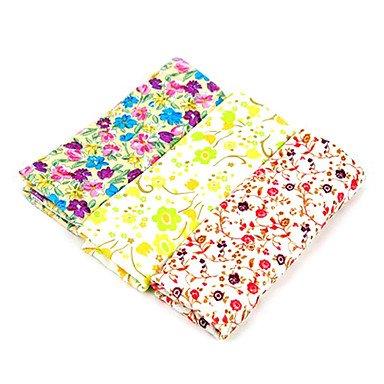 Estilo coreano del patrón de flores de microfibra 3pcs/Pack toallas (colores aleatorios)