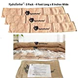HydraSorber - Sandless Sandbags - Water Absorbent Flood Barrier - 4ft Long X 8in Wide - Three Pack